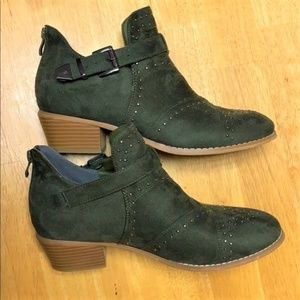 Studded Block Heel Belted Booties